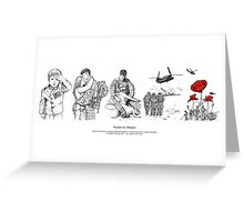 Poems For Heroes Greeting Card