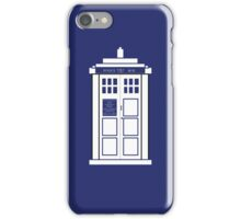 The Tardis in a Phone  iPhone Case/Skin
