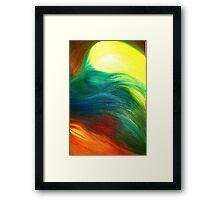 Collie Tail Framed Print