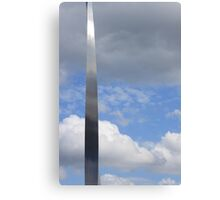 A silver sliver through the clouds Canvas Print