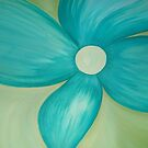 Teal Flower by erinv2000