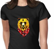 Gangsta Bear Baby  Womens Fitted T-Shirt