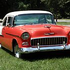 1955 Chevy Bel Air with Dry Brush Effect by Frank Romeo