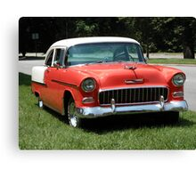1955 Chevy Bel Air with Dry Brush Effect Canvas Print