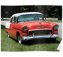 1955 Chevy Bel Air with Dry Brush Effect Poster