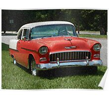 1955 Chevy Bel Air with Sponge Painting Effect Poster
