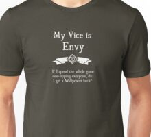 My Vice is Envy - For Dark Shirts Unisex T-Shirt