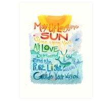 Long Time Sun Art Print