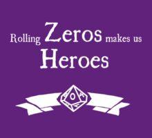 World of Darkness - Zero Hero - For Dark Shirts by Serenity373737