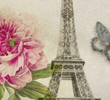 Vintage Paris Collage Sticker