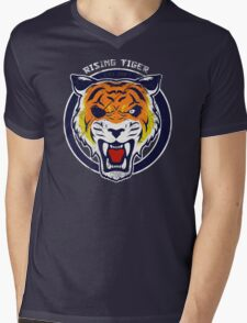 Rising Tiger Mens V-Neck T-Shirt