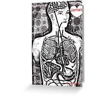Jamais  Body Map  Design  Greeting Card