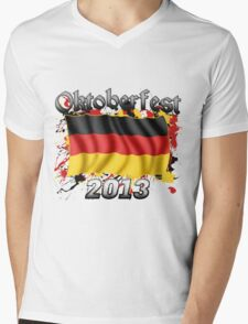 Oktoberfest German Flag 2013 Mens V-Neck T-Shirt
