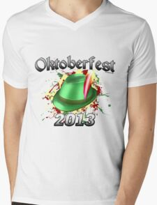 Oktoberfest German Hat 2013 Mens V-Neck T-Shirt