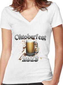 Oktoberfest Beer Mug 2013 Women's Fitted V-Neck T-Shirt