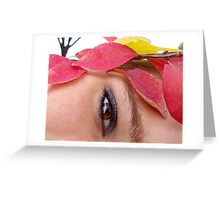 Autumn Showing It's Colors Greeting Card