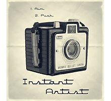 Instant Artist Photographic Print