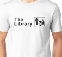 The Library Logo in black Unisex T-Shirt