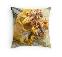 Brains at the beach  Throw Pillow