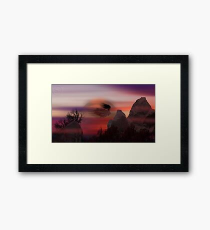 ©DigiArt Flying Framed Print