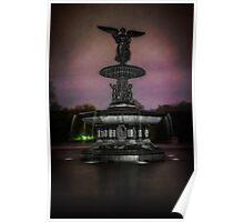 Bethesda Fountain at Night Poster