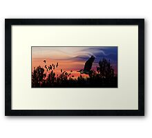 ©DigiArt Windy Sky I Framed Print