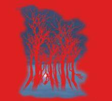 Evil woods At Night Kids Tee