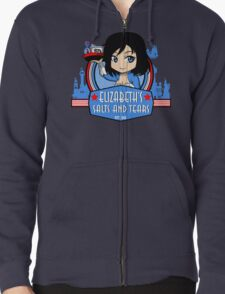 Elizabeth's Salts And Tears Shop Zipped Hoodie