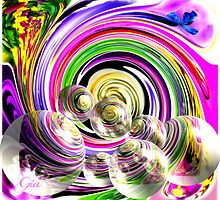 """ Swirls And Bubbles"" by Gail Jones"
