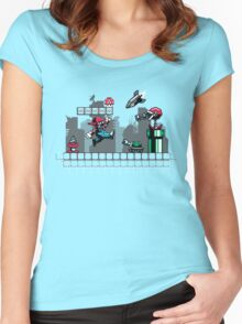 Mecha Mario Women's Fitted Scoop T-Shirt
