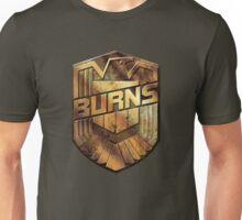 Custom Dredd Badge - (Burns) Unisex T-Shirt