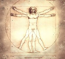 Leonardo da Vinci Vitruvian Man,  -1490 by dangerpowers123