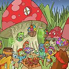 Hippy pea pod patch people by Jack Harrison
