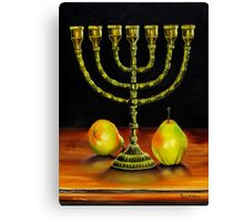 Menorah and Pears Canvas Print