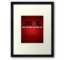 Sith Gas And Electric Co. Framed Print