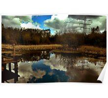 Nature reserve landscape Poster