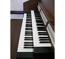 Pulling Out All The Stops - Organ Keyboards and Stops Photographic Print