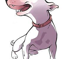 Bull terrier by maria mar