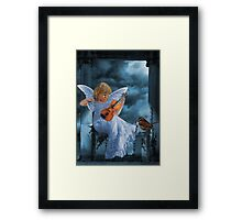 ❤ 。◕‿◕。SWEET MUSIC ANGEL WITH A BIRDS EYE VIEW❤ 。◕‿◕。 Framed Print
