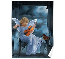 ❤ 。◕‿◕。SWEET MUSIC ANGEL WITH A BIRDS EYE VIEW❤ 。◕‿◕。 Poster
