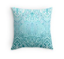 Twists & Turns in Turquoise & Teal  Throw Pillow