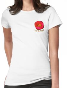 Poppy On Blue Womens Fitted T-Shirt