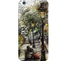 Montmartre 2 in colour iPhone Case/Skin