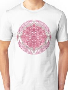 Happy Place Doodle in Berry Pink, Cream & Mauve Unisex T-Shirt