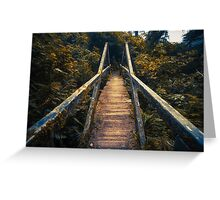 Lonely Forest Bridge Greeting Card
