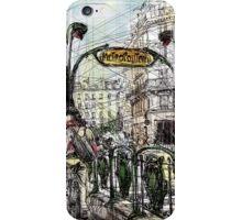 Paris 6 in colour iPhone Case/Skin
