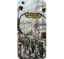 Paris 6 in colour iPhone Case/Skin