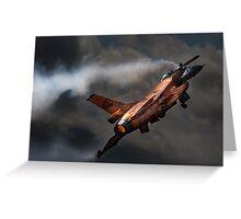 Dutch Demo Team F16 Fighting Falcon Greeting Card