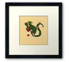 "Oscar and the Roses ""V"" (Illustrated Alphabet) Framed Print"