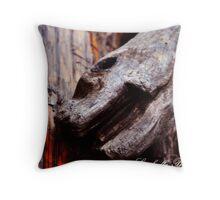 monster wood Throw Pillow